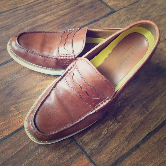 5b27f70bb7b Cole Haan Brown Leather Venetian Loafers